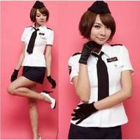 2014 Sexy Costumes Police Women Slim Sexy Female Police Uniform Temptation Short Skirt Sexy Underwear Free Shipping #PL009