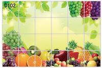 60x90cm 1pcs Fruit Patten DIY Big wall Decor kitchen Stick paper Removable kitchen Stickers oil proof kitchen wall stickers D102
