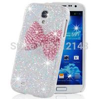 Fashion 3D handmade phone case for Samsung Galaxy S4 i9500 Bling crystal rhinestone back cover for Samsung galaxy S5 I9600