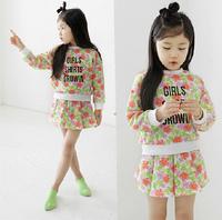 2-8Y Fashion Clothing Set Kids Flower Letter Girls Princess Clothe Spring Autumn  Long Sleeve Kid Sets Cute 2 piece Clothes Sets