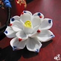 Handmade!!fashion necklace ceramic flower necklace style 6 women free shipping