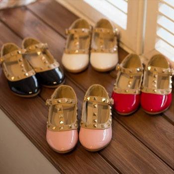 AliExpress.com Product - New 2014 Girls Princess Summer Rivet Flats Sandals Casual Children Round Toe Ballet Ballerina Designer Kids Dance Shoes ILKP103