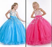 Wholesale----White Flower girl Dresses Ball Gown Vestidos De Menina Girls Pageant Dresses Custom Made