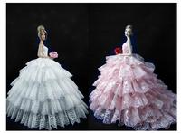 High Quality Doll Accessories Beautiful Elegant Wedding Dresses Handmade Gown Dress Clothing For 1/6 BJD barbie doll
