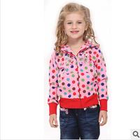 2014 new autunm girls cartoon pig dot coat kids cotton embroidery coat girls princess cloth