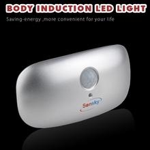 Human Body Induction Motion Sensor Light  Various Colors LED Night Sensor Light For Emergency (BS137 1pc)(China (Mainland))