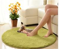 Diameter 80cm round multiple soild color super soft carpet floor round rug slip-resistant bath mat kids rug for living room