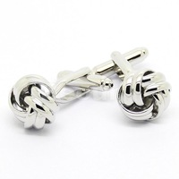 Hot Sale Classic Silver Chinese Knot Cufflinks