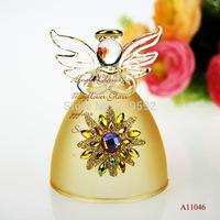 5 x 7cm Handmade Cute Glass angel Crystal Image with heart, aeolian bells, bell christmas home decoration, wedding decor