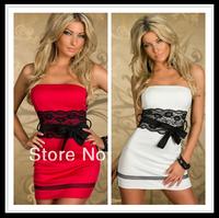 women summer dress New Hot Fashion summer dress 2014 cozy elegant slim sexy mini dress plus size S-XL lace party dersses 2 color
