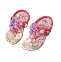2014 summer girls princess shoes children beach sandals children beads elastic strap sandals children shoes girls sandals