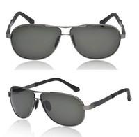 Free Shipping Hot Sale New Arrival Metal Polarized Sunglasses UV400 Men Driving Glasses A129 Dark Green Lens
