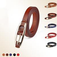 2014 New Fashion Women  Genuine Leather Belts Designer Belts Tide Leisure Metal Belt Buckle Retro High Quality Thin Belt