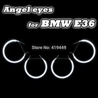 4 CCFL ANGEL EYES HALO RINGS KIT FOR BMW E36 E38 E39 E46 HEADLIGHTS WHITE BLUE YELLOW RED