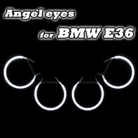 4 CCFL ANGEL EYES HALO RINGS KIT FOR BMW E36 E38 E39 E46-Projector HEADLIGHTS WHITE BLUE YELLOW RED