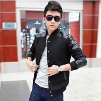 2014 spring models men burst models collar jacket men jacket Korean fashion trends  free shipping is made from cotton casual