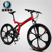 Bicycle Aluminum Double Disc Full Suspension Mountain Bike 21 Speed Mountain Bike Wheels 26 Inch One
