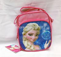 Free Shipping! 120pcs/lot 2015 Fashion Elsa Princess Pink Color Messenger Bag Cartoon Girls Shoulder Bag A3400 Wholesale