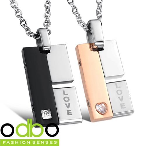 Free shipping new hot sales fashion jewelry Rotatable creative couple titanium steel pendant necklace men women