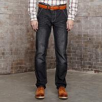 Men Fashion Straight Leg Jeans 100% Cotton Four Seasons Men's Long Brand Pants Slim Fit Summer Spring Winter Autumn 28-34