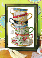 """top Grade Set for Counted Cross Stitch kits 14ct unprinted Coffee Cup Restaurant Kitchen Decoration European Embroidery 12*18"""""""