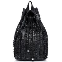 New arrive fashion korean backpack really sheep skin genuine leather bags sport tactical backpacks for teenage girls