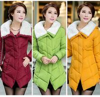 2014 Women winter outerwear wadded jacket female cotton-padded jacket ,winter outdoor jacket ,overcoat, snow wear, women jackets