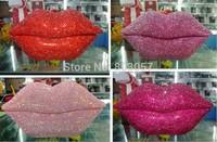 2014 Hot Free shipping(5pcs/lot) wholesale Fashion Lovely Lips diamond telephone