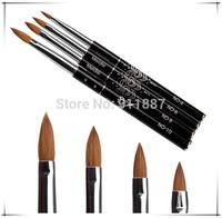 Wholesale 4pcs/Set UV Gel Nail Art Tip Brush For Nails Salon Dotting Draw Paint Tools Kits Different Size New