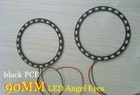 12V 90mm 24smd 3528 headlight led angel eye car light source,external light,black PCB,