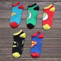 2014 High Quality Superman Socks Batman Character Sports Ankle Boat Socks For Women Men Sock