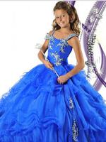 Girl's Pageant Dresses New Ball Gown Beading Pretty Flower Girl Dresses