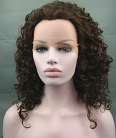 Bouncy Twirls Curly Lace Front Wig Brown free shipping