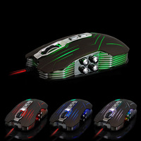 Retail 2014 Suzaku usb gaming mouse 800/1200/1600/2400 DPI USB 3D Professional Competitive Gaming 9 Buttons Mice Free Shipping