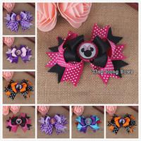 30pcs /lot  5colours 2014 bottle cap hair bows children ribbon bows 20147241