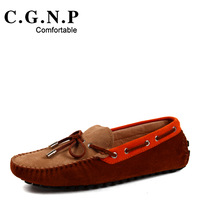 2014 summer male Moccasins scrub genuine leather casual shoes men fashion shoes