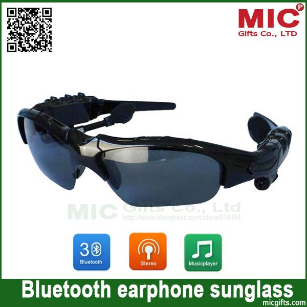 Sunglasses Mp3 Player Bluetooth sunglass with phone talk sports headphones headset earphone earpiece K11 BE157(China (Mainland))