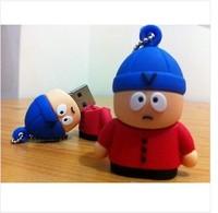 Universal usb flash drive 1g/2g/4g/8g/16g/32g 3D Mini Eric Cartman USB Flash Drive from SOUTH PARK Funny Memory Stick