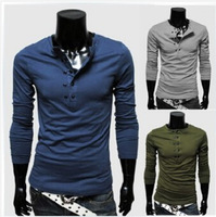 Hot Sales!New Arrival High Quality Men's T-shirt Slim Casual T-shirt Fashion O-Neck Long-sleeved T-shirt 5 Colors