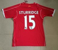 2014-2015 Best Thailand Quality Home red #15 STURRIDGE Soccer Jersey A+++ quality football cheap jerseys shirt