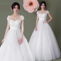 Maternity wedding dress 2014 high waist tube top customize the bride wedding dress