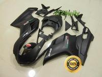 Definitely Durable 07 08 For Ducati 848 1098 1198 Fribest Fairing Matt Black White Decals FFKDU004