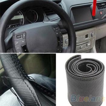 Новый кожаный DIY авто руль с иглы и нитки 3 цвет выбрать 07RG