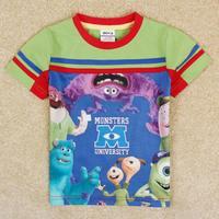 NOVA kids Monsters University boy short sleeve T-shirt Free Shipping C5158Y