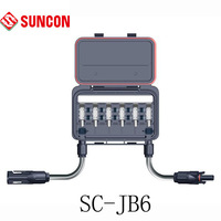 Cheapest solar junction box 6-rail 10pcs/lot(house+900mm*4mm2 pv cable+MC4 connector+diode),free shipping,ip68,TUV