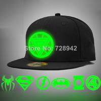 New Super hero Luminous Glow Snapback Baseball heroes Cap Club Party Dance night Hat Batman hiphop Hot Hat the trend of summer