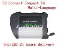 DHL/EMS MB Star C4 MB SD connect compact 4 with WIFI  for mercedes benz diagnosis multiplexer with full cables+HDD