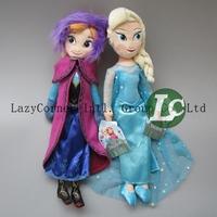 2pcs/set Frozen Plush Toys Cute 42cm Princess Elsa Anna Plush Dolls Brinquedos Kids Doll For Girls
