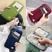 Travelus handy multi-function passport case+wallet+tickets&receipt pocket 6 colors FDS001