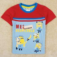 NOVA kids Despicable Me Minions Printed boy short sleeve T-shirt Free Shipping C5131Y